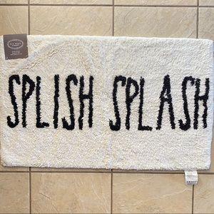 Rae Dunn SPLISH SPLASH Bath Mat